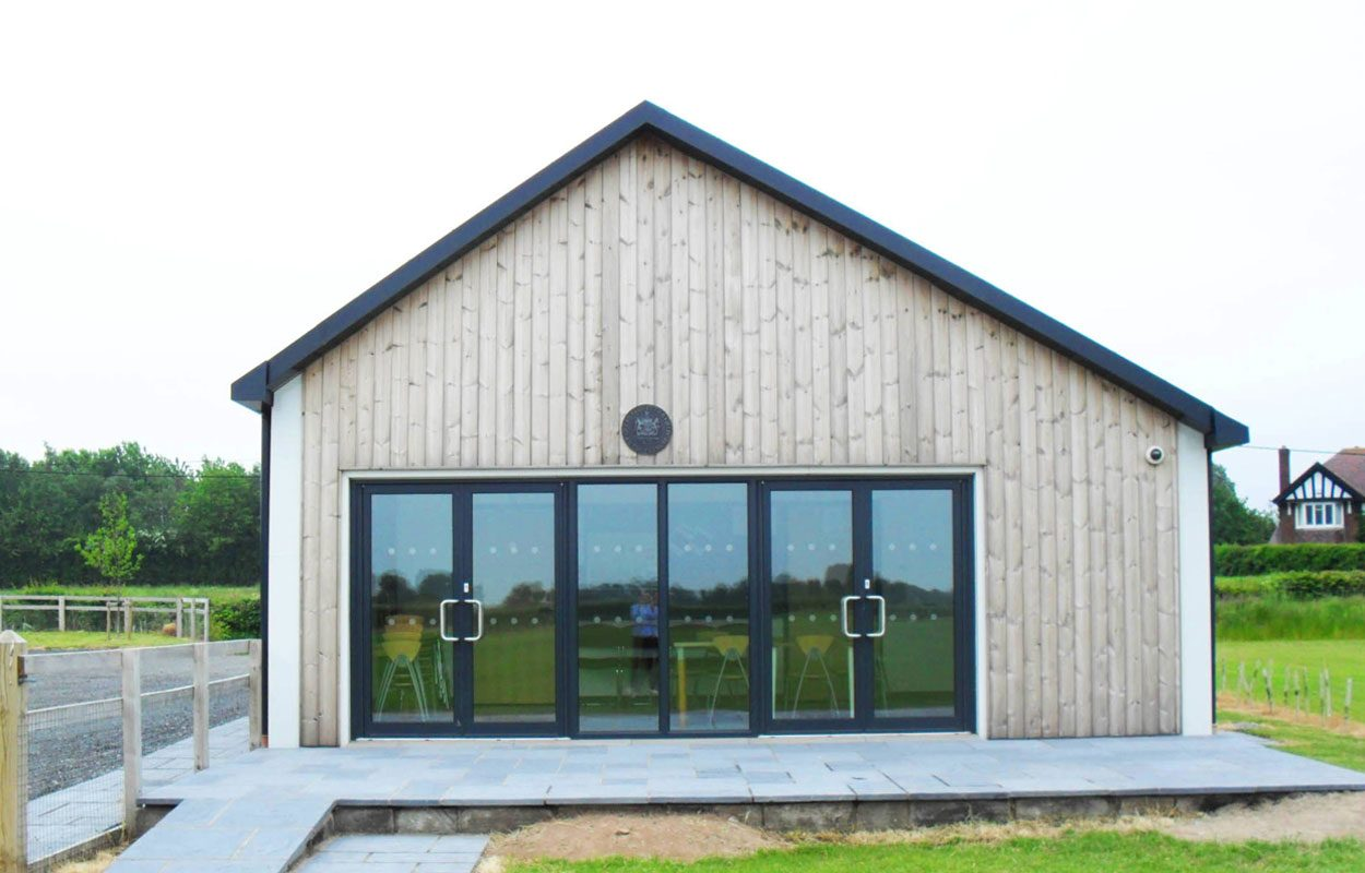 Ashton Hayes sustainable sports pavilion Fordingbridge