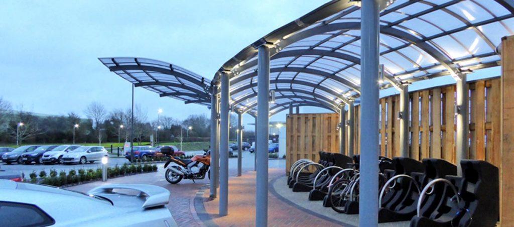 Bespoke steel canopy by Fordingbridge