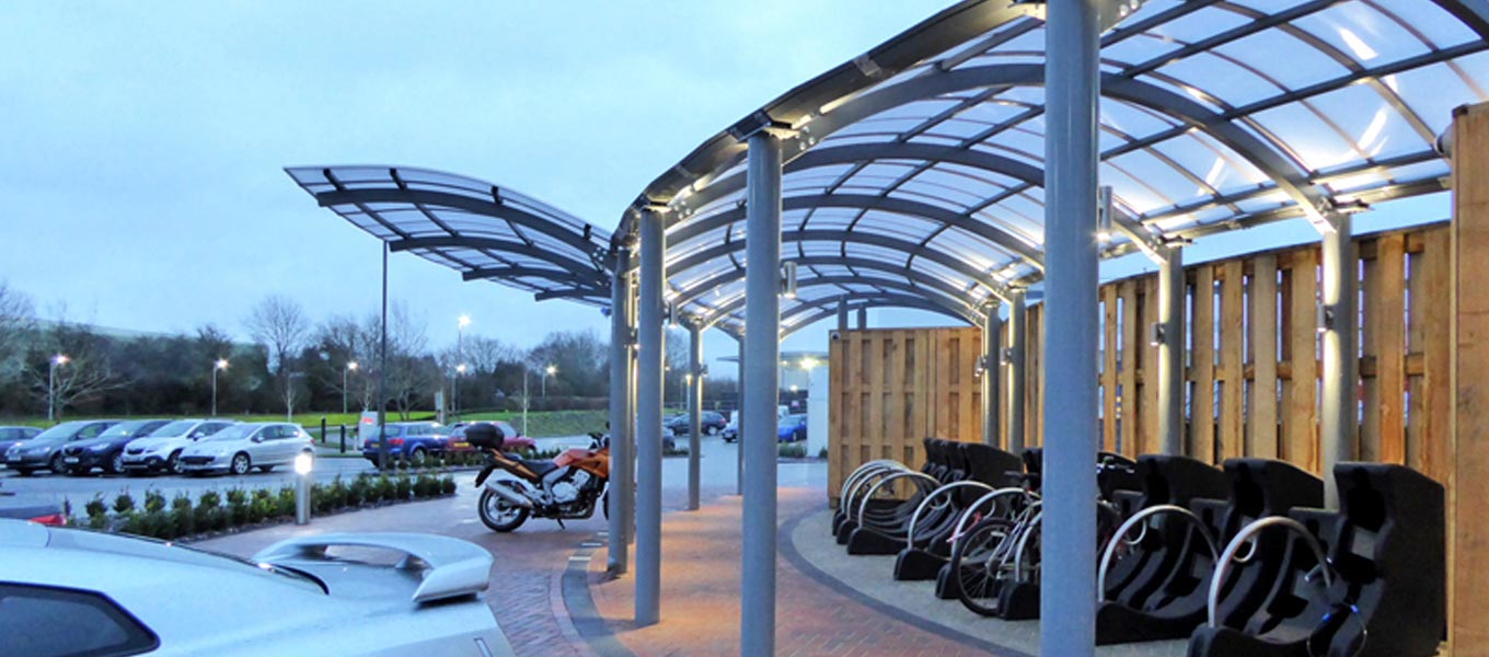 Bespoke steel canopy by Fordingbridge