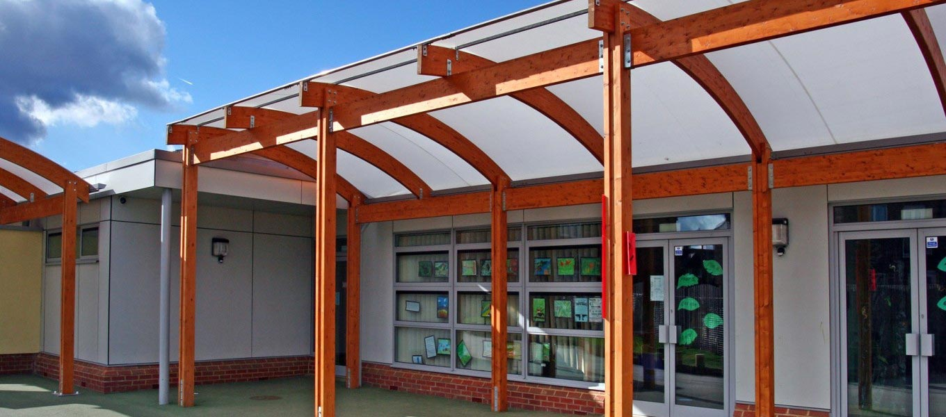 Canopy at Coney Hill Primary School by Fordingbridge