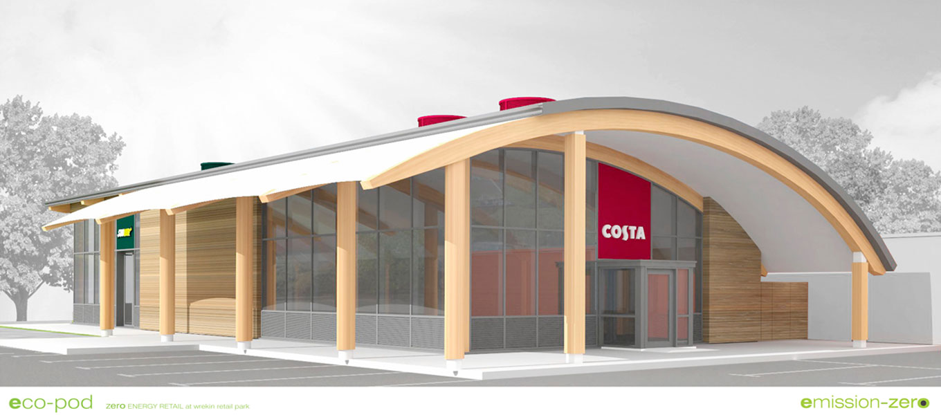 Fordingbridge's Costa Coffee development at Wrekin Retail Park, Telford