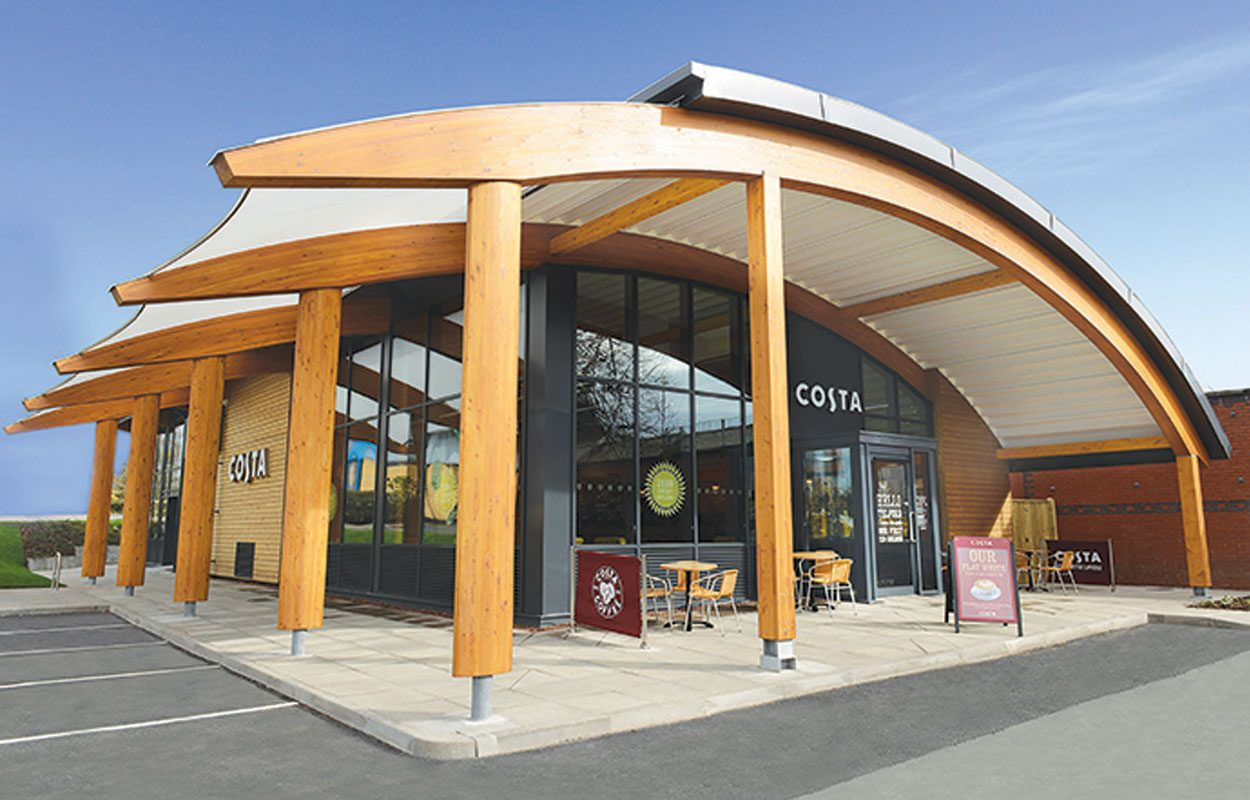Costa Coffee zero energy building Fordingbridge