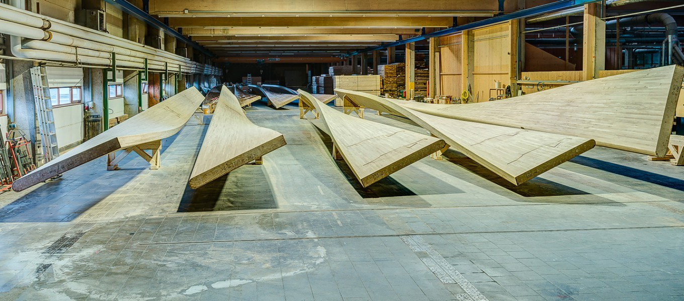 Glulaminated timber at Fordingbridge