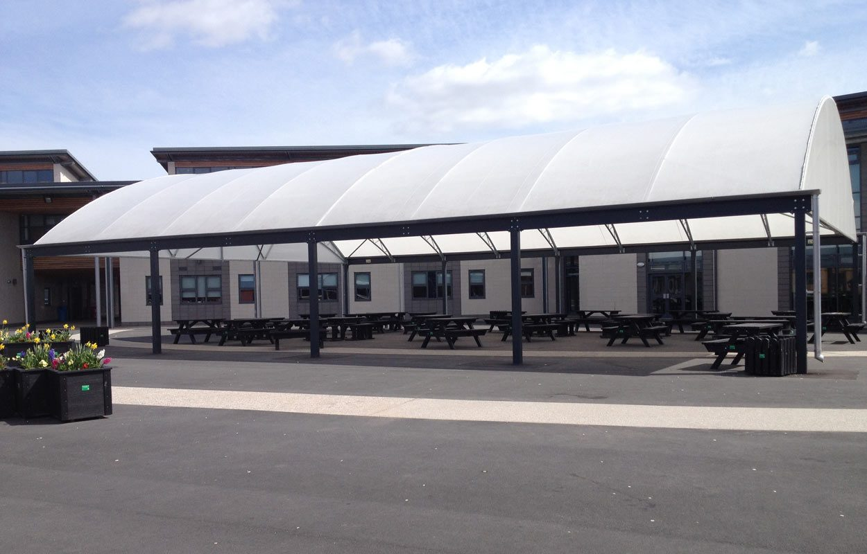 Goole High School steel canopy by Fordingbridge
