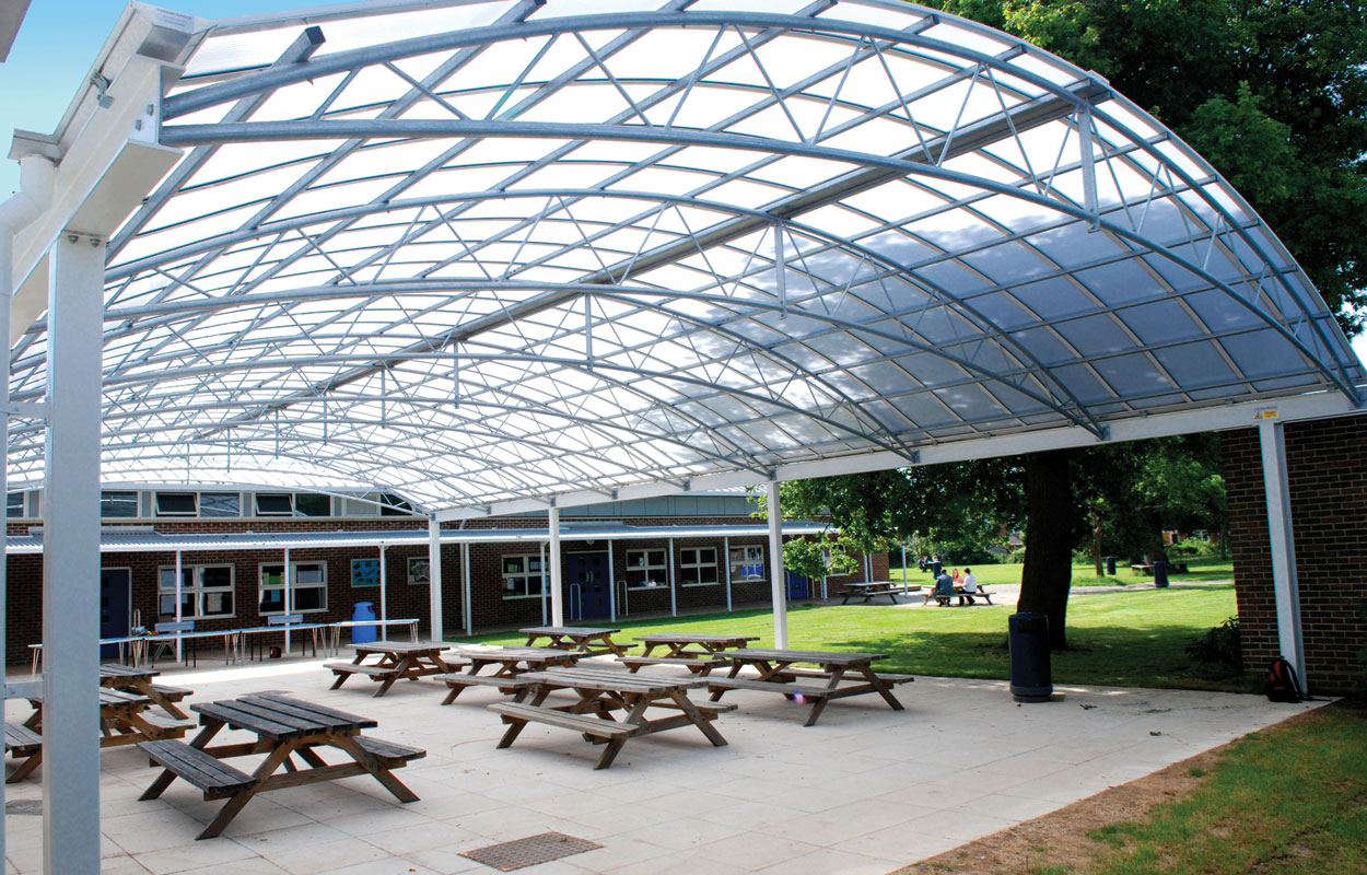 Metal Covered Structures : Steel canopies timber fordingbridge plc