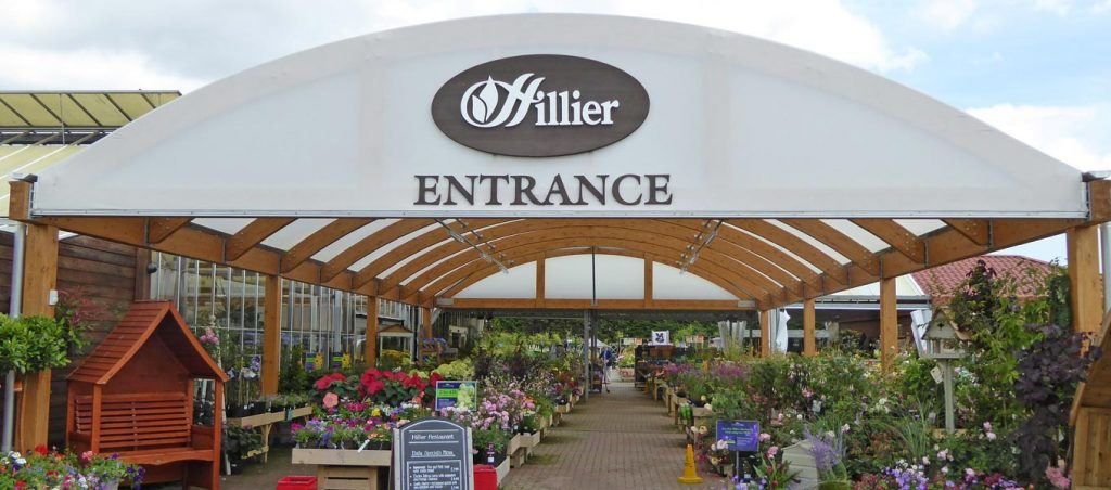 Fordingbridge canopy at Hilliers garden centre, Bosham, West Sussex