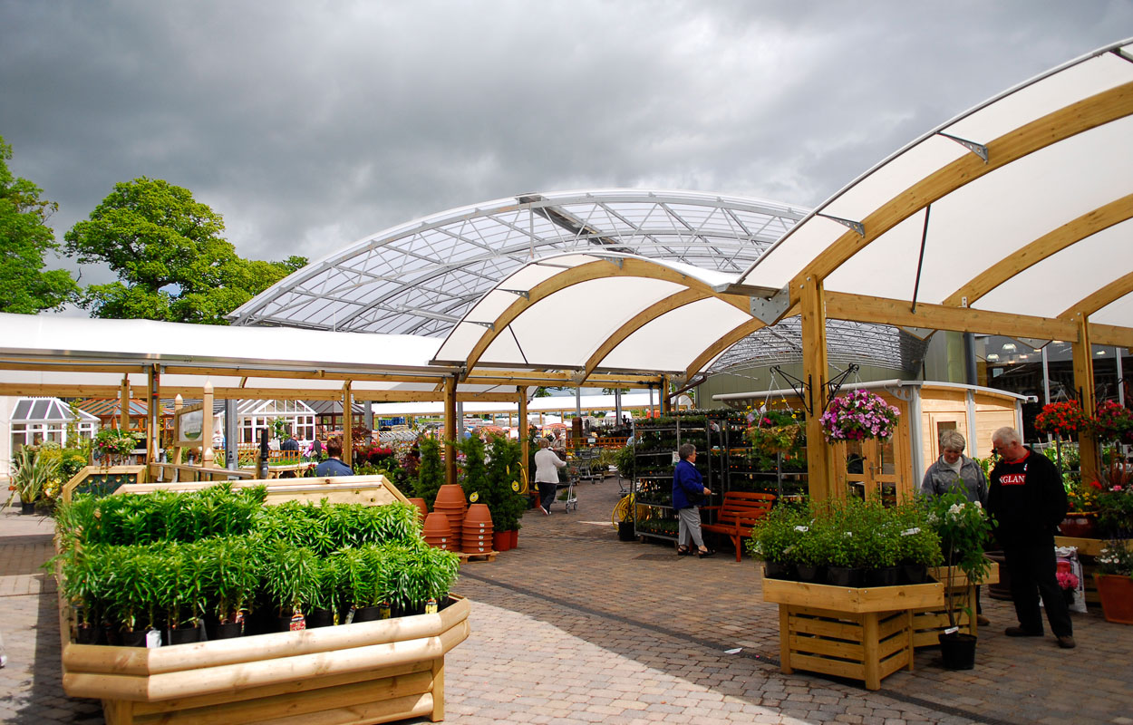 Houghton Hall Garden Centre canopies