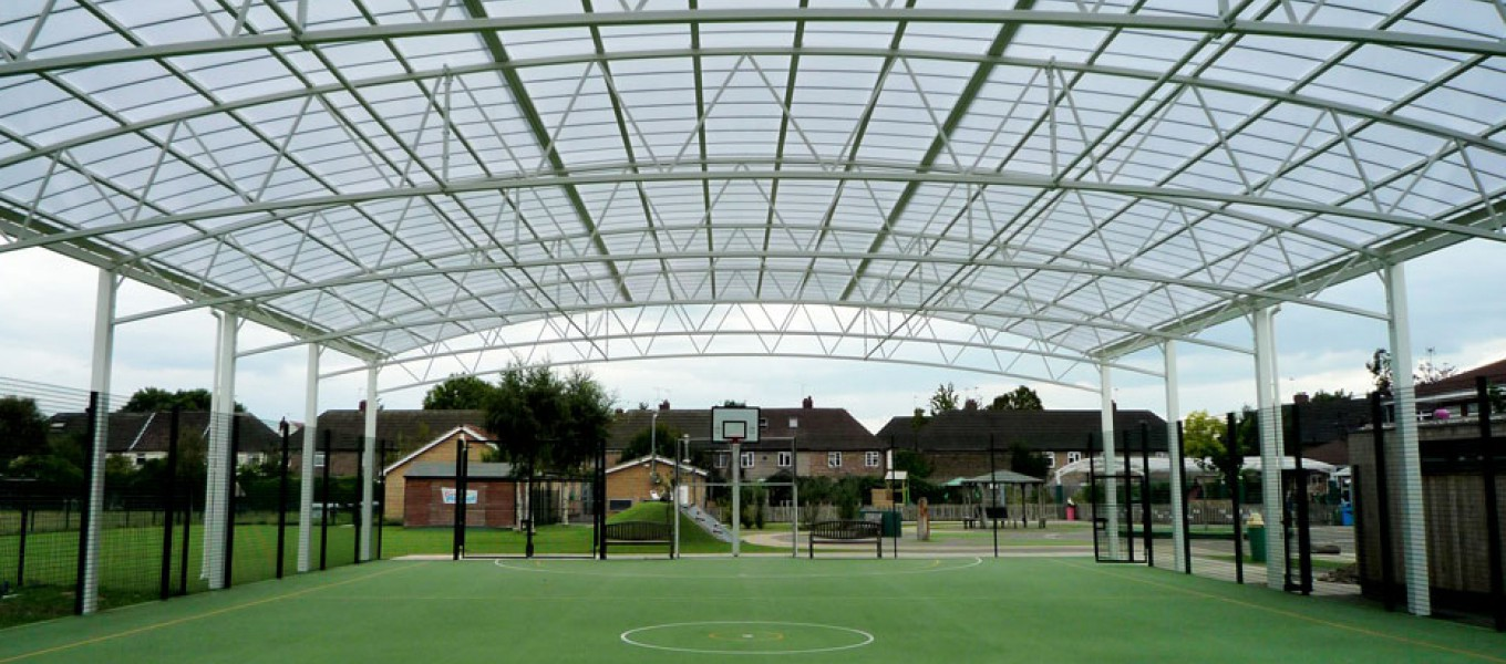 Innovative sports canopy solution from Fordingbridge