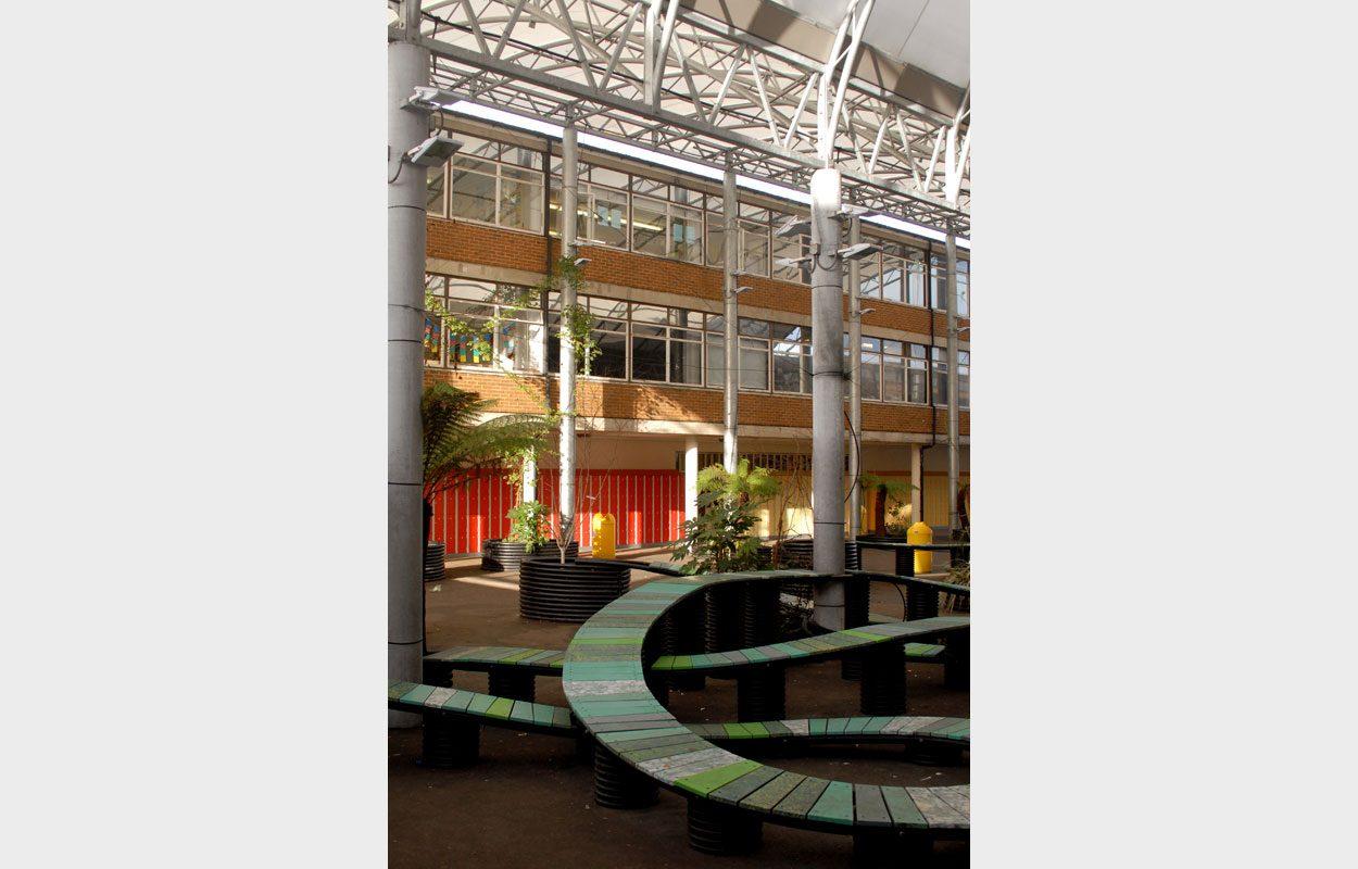 Longhill School atrium Fordingbridge