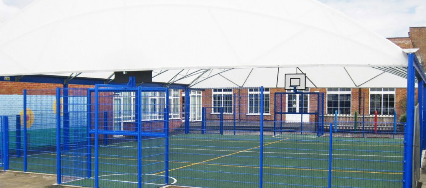 Multi-use games area (MUGA) canopy by Fordingbridge