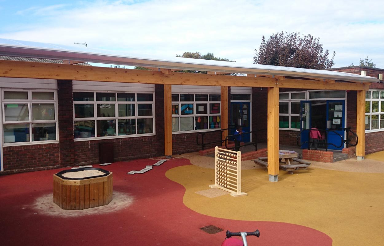 Odessa Infant School timber canopy Fordingbridge