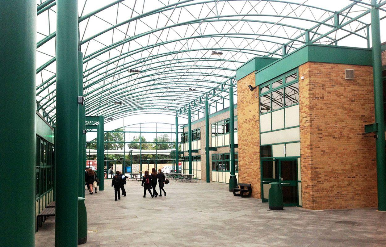 Philip Morant School atrium canopy Fordingbridge