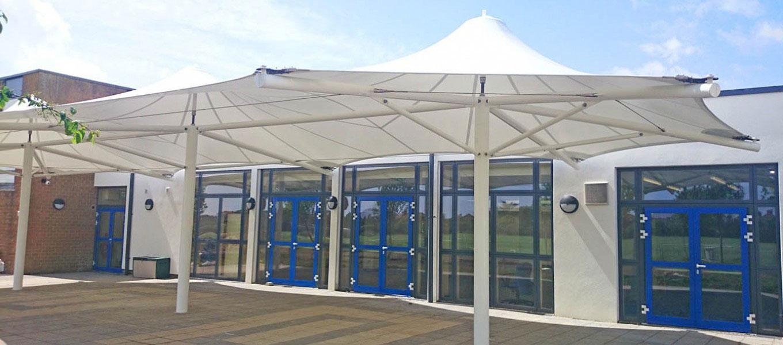 Predesigned tensile fabric canopy Fordingbridge