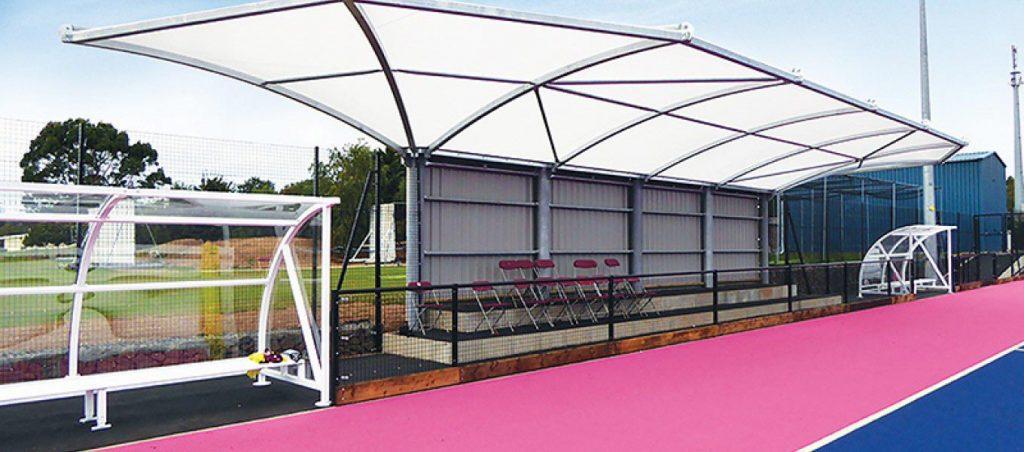 Sports centre canopy by Fordingbridge