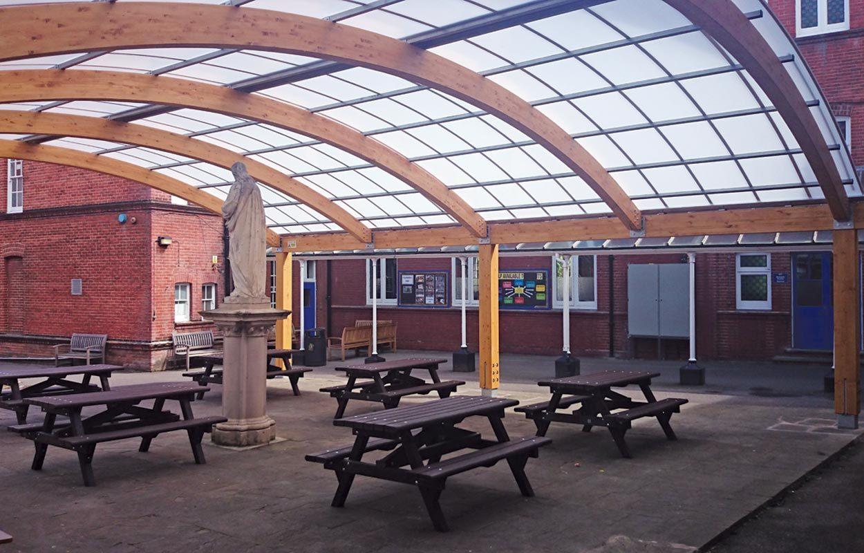 St Philomena S School Fordingbridge Canopies Amp Buildings