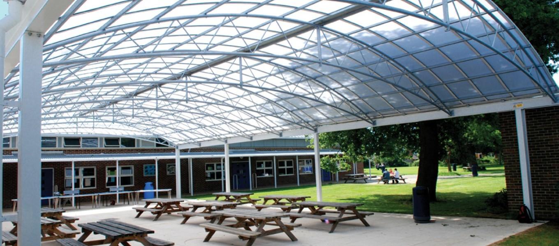 School canopy by Fordingbridge