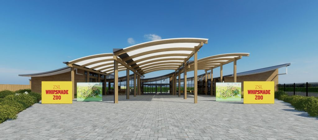 Sustainable entrance building for ZSL Whipsnade Zoo by Fordingbridge
