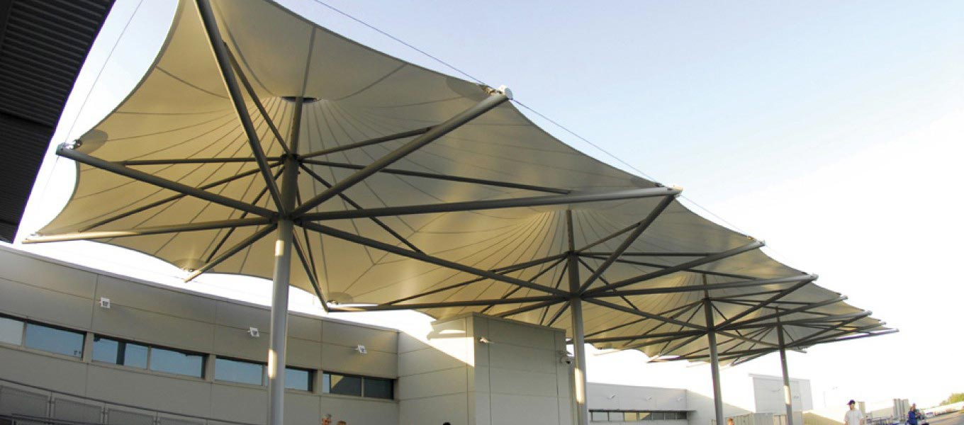 Tensile fabric canopy from Fordingbridge