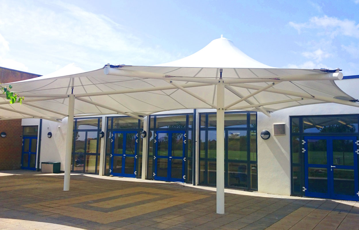 Thomas A Becket Middle School & Standard u0026 Bespoke Tensile Fabric Structures
