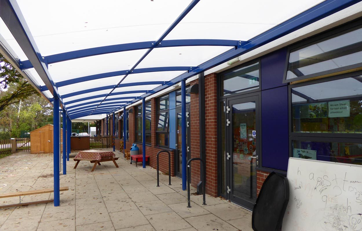 Wordsworth Primary School steel canopy by Fordingbridge