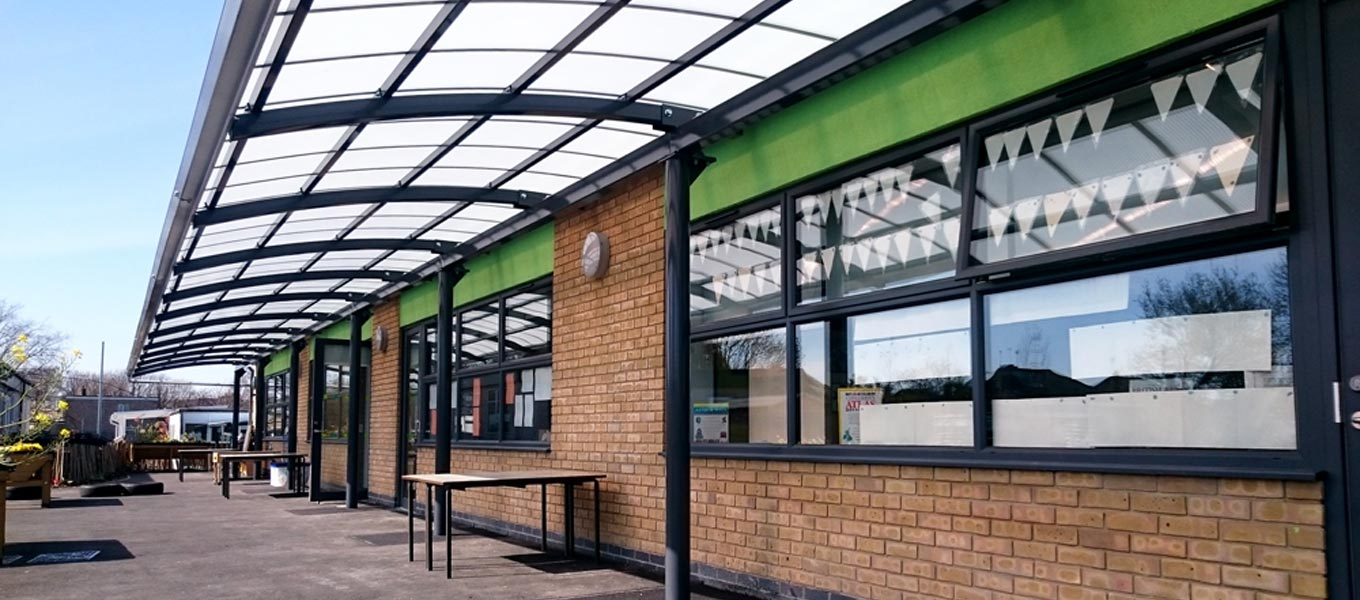 A Fordingbridge canopy at a school