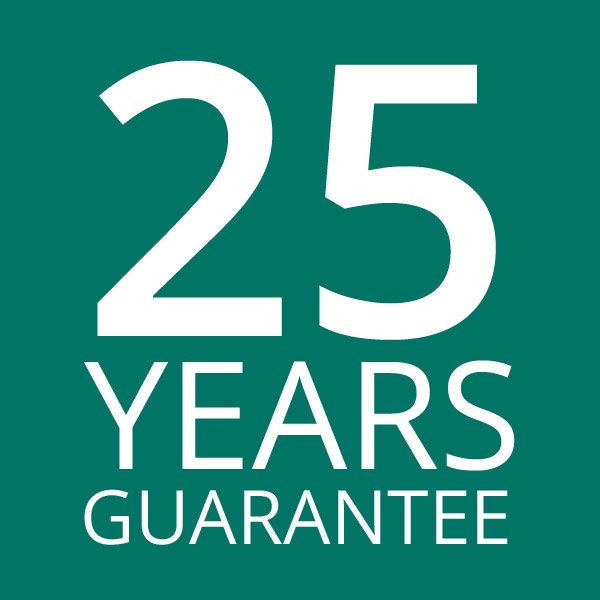 25 years guarantee: all our structures are guaranteed for 25 years, the fabric for 10.