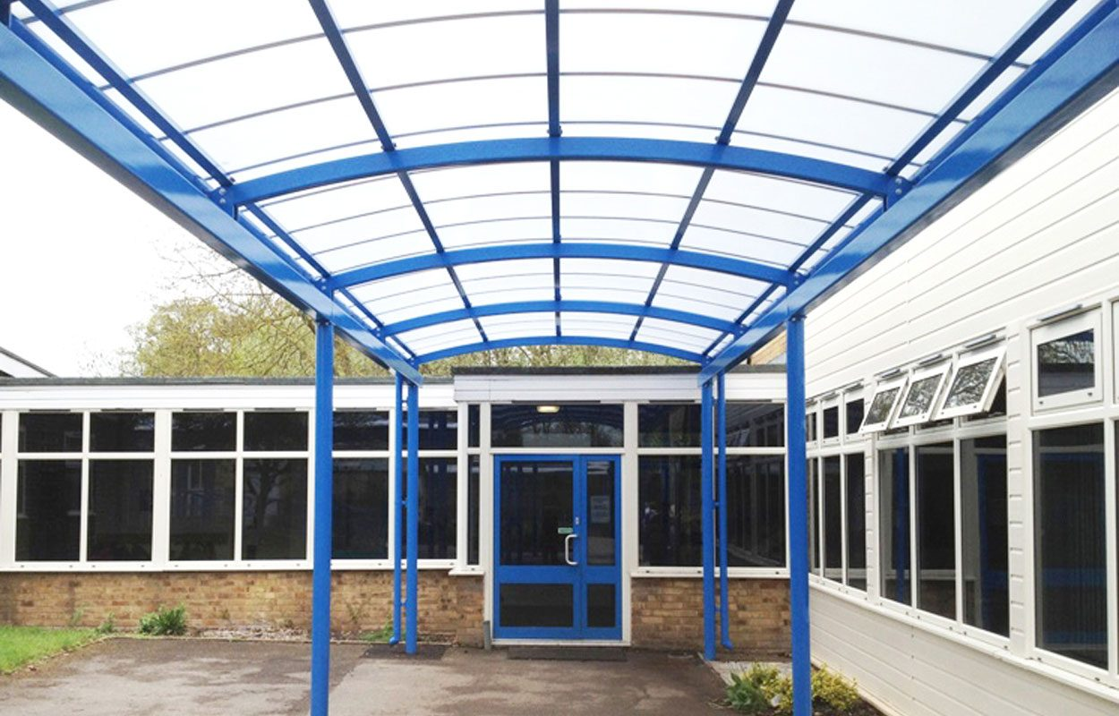 Bedgrove Junior School covered walkways by Fordingbridge