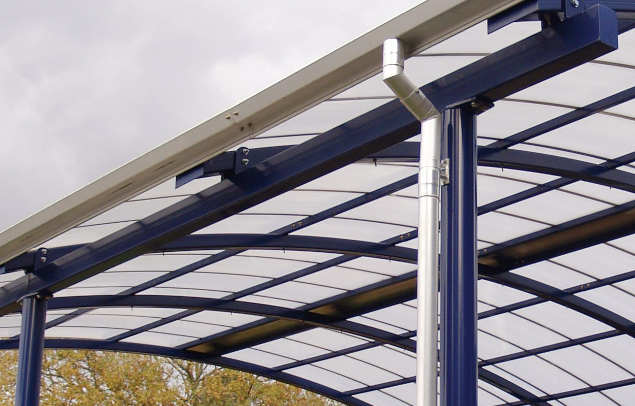 Butlers Court School steel canopy by Fordingbridge