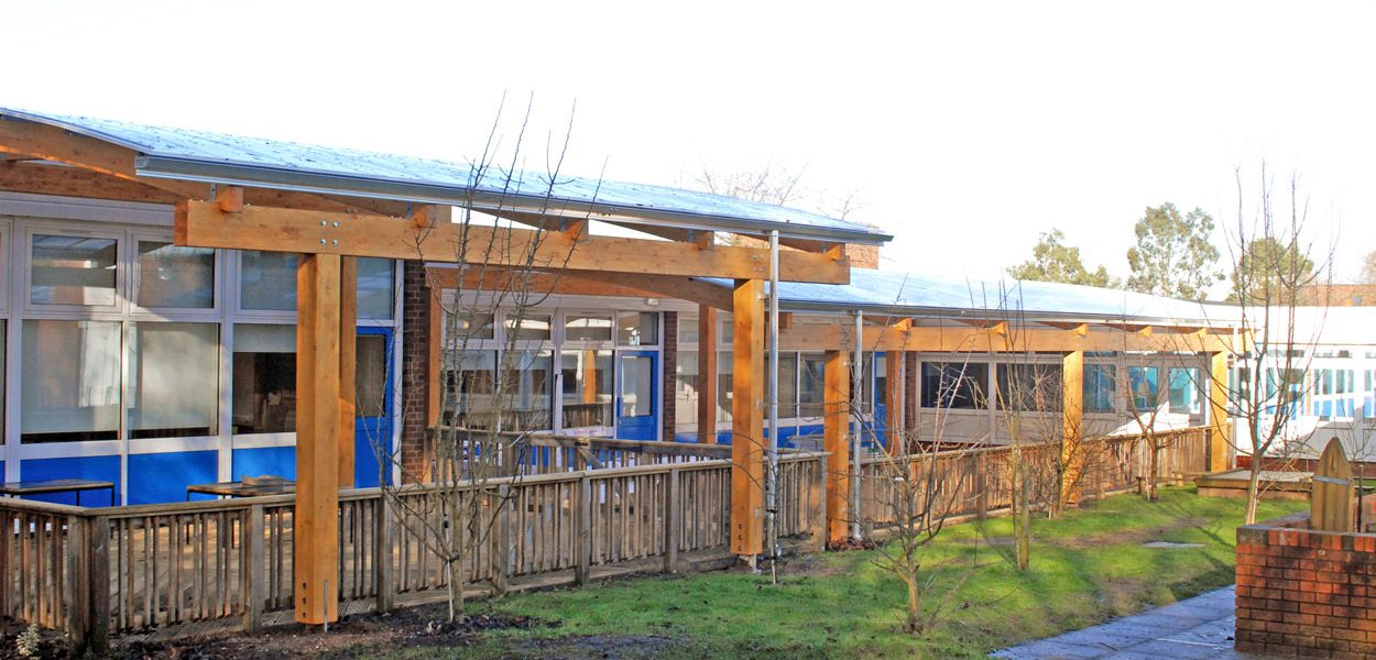 East Park Primary School timber canopies by Fordingbridge