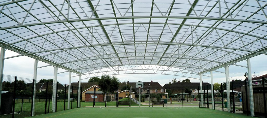 Fordingbridge MUGA Sports steel canopy