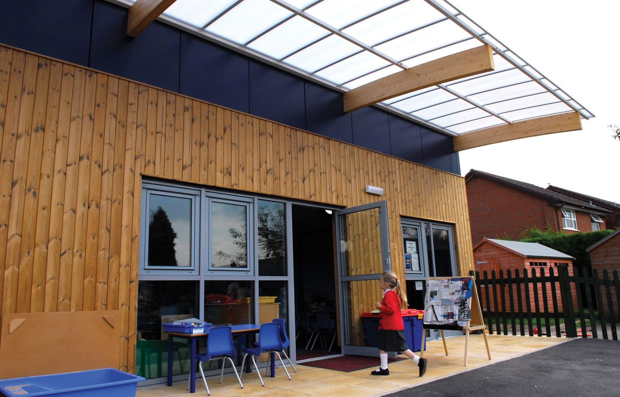 Grovelands Primary School sustainable building by Fordingbridge