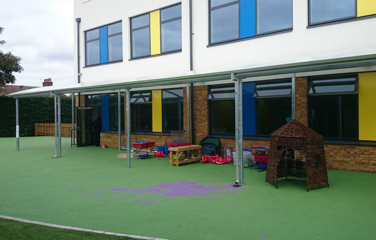 Haling Road Primary School playground canopy by Fordingbridge