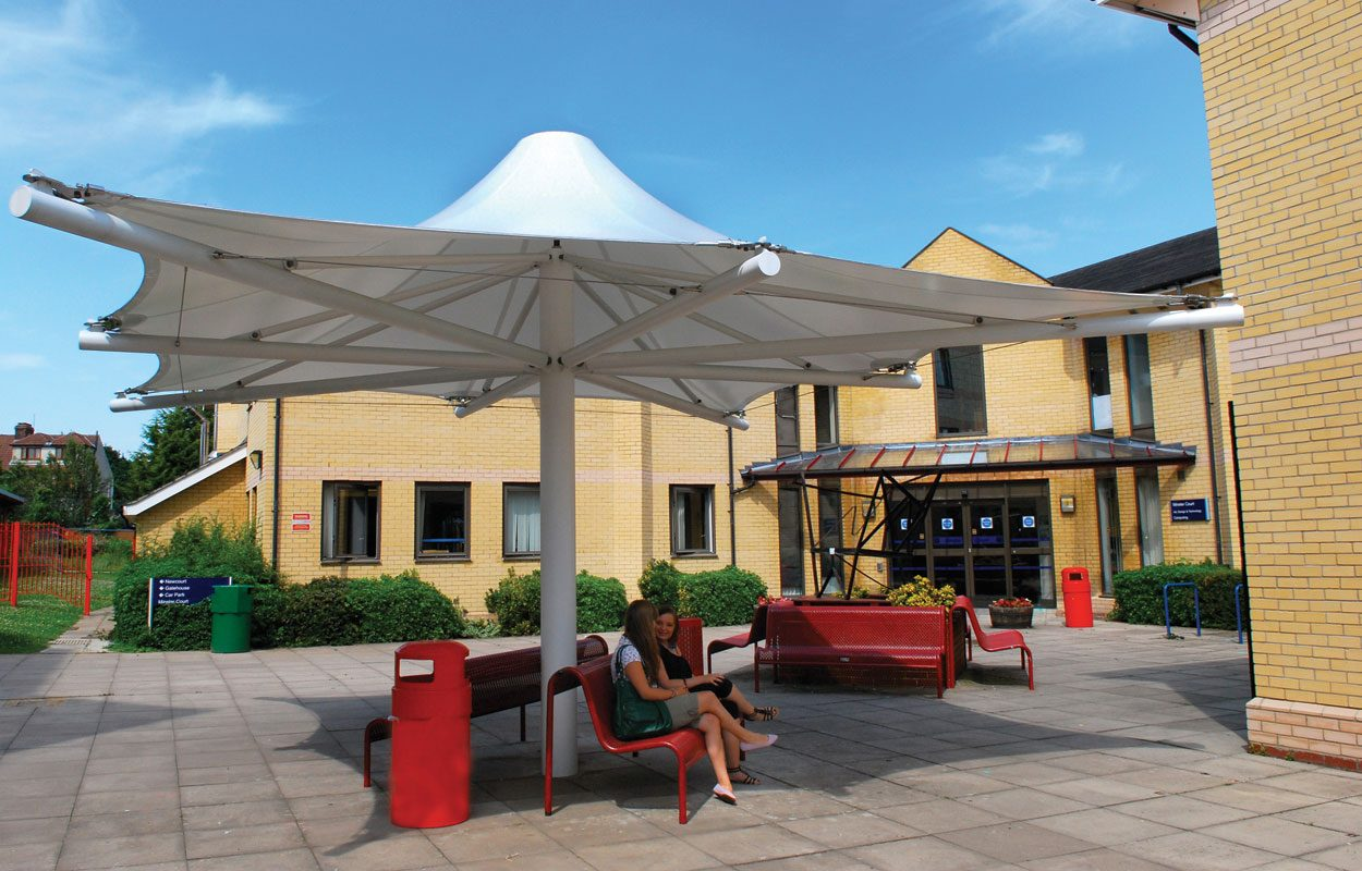 Havering Sixth Form College tensile fabric structure by Fordingbridgee-1