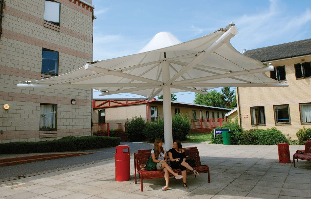 Havering Sixth Form College tensile fabric structure by Fordingbridge