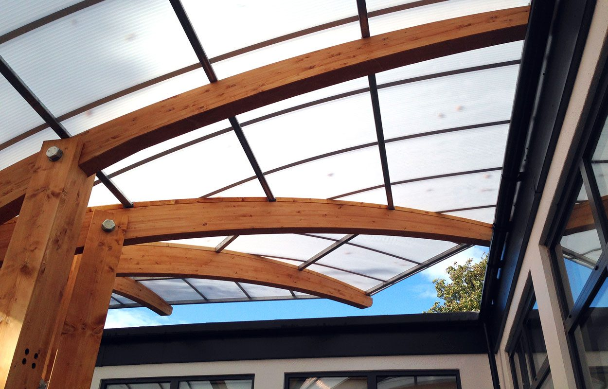 Heathfield Infant and Junior School timber canopies by Fordingbridge