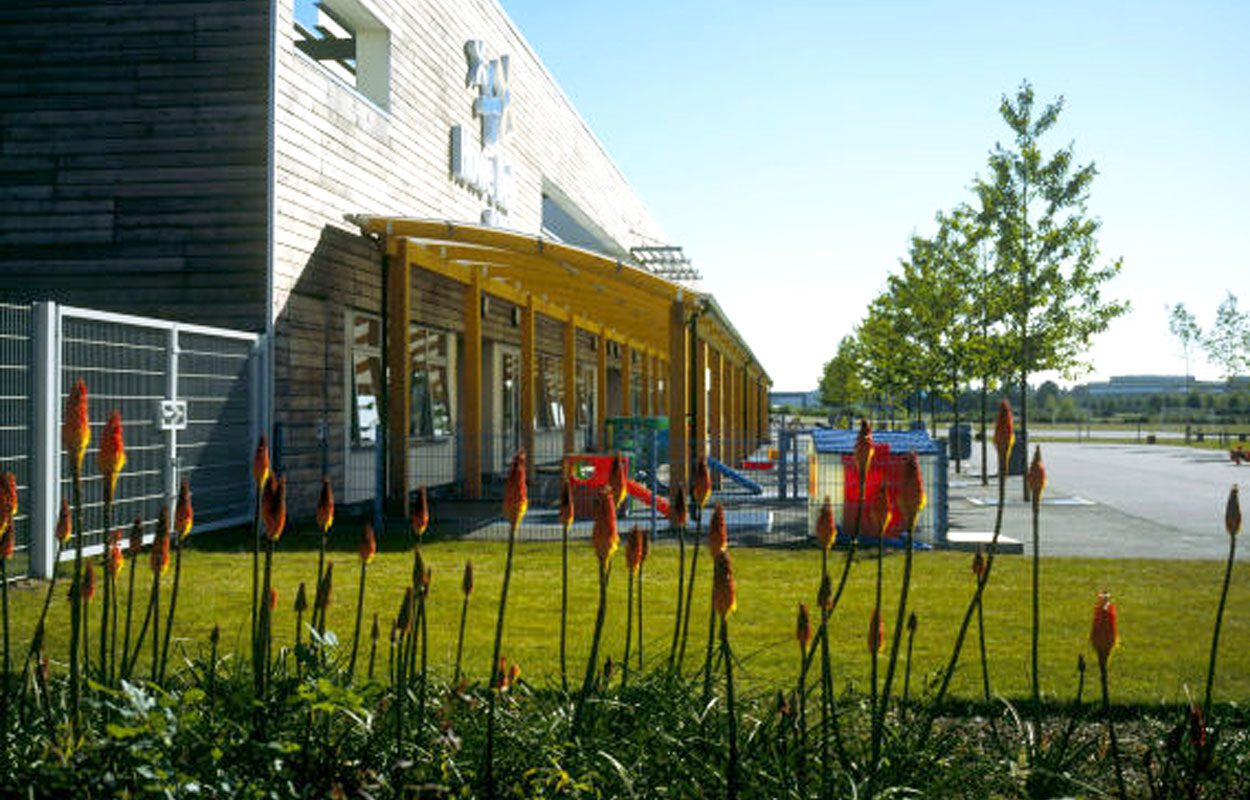 Howe Dell School timber playground canopy by Fordingbridge