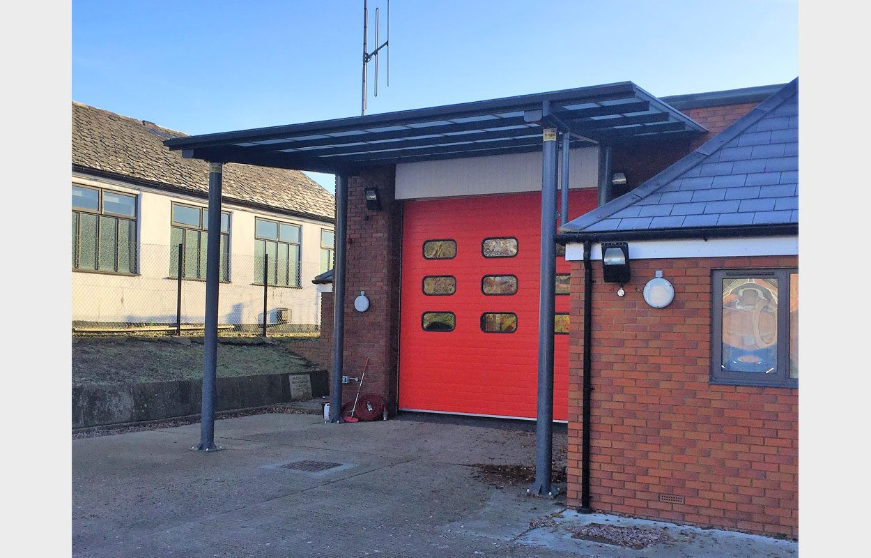Ingatestone Fire Station canopy by Fordingbridge