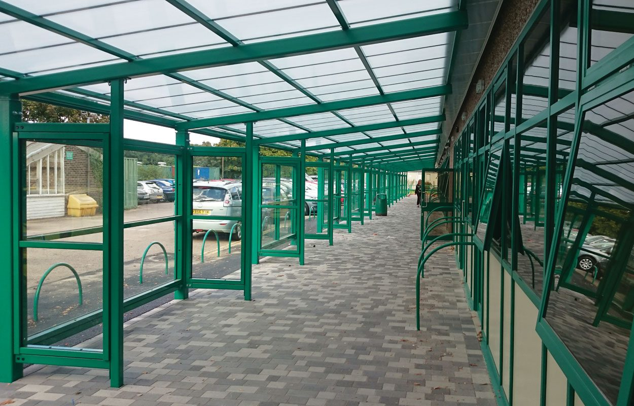 Philip Morant School Phase 2 steel walkway by Fordingbridge