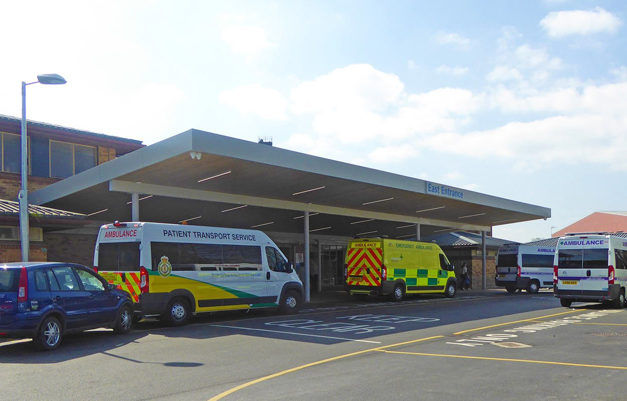 Fordingbridge East Surrey Hospital entrance canopy
