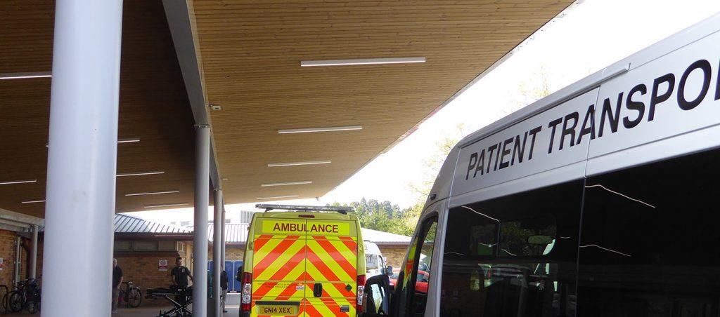 Fordingbridge entrance canopy NHS East Surrey Hospital