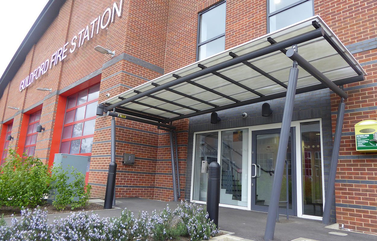 Guildford Fire Station Fordingbridge Entrance Canopy