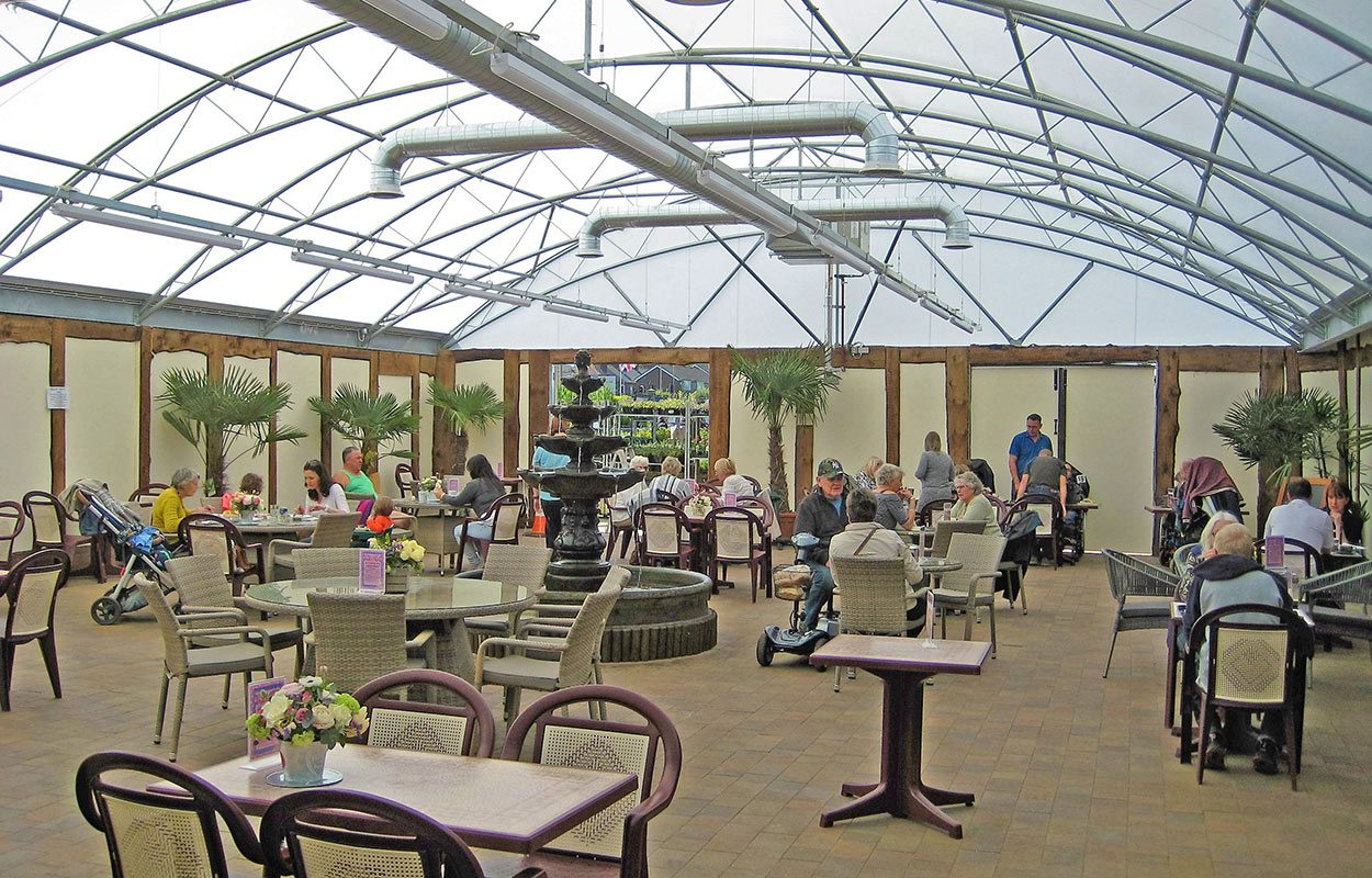 Hampsons Plant World Fordingbridge restaurant steel canopy