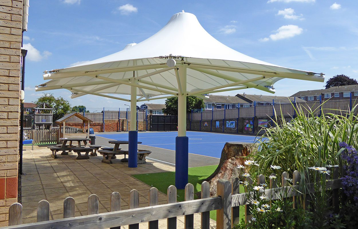 Fordingbridge tensile canopy West Lodge school