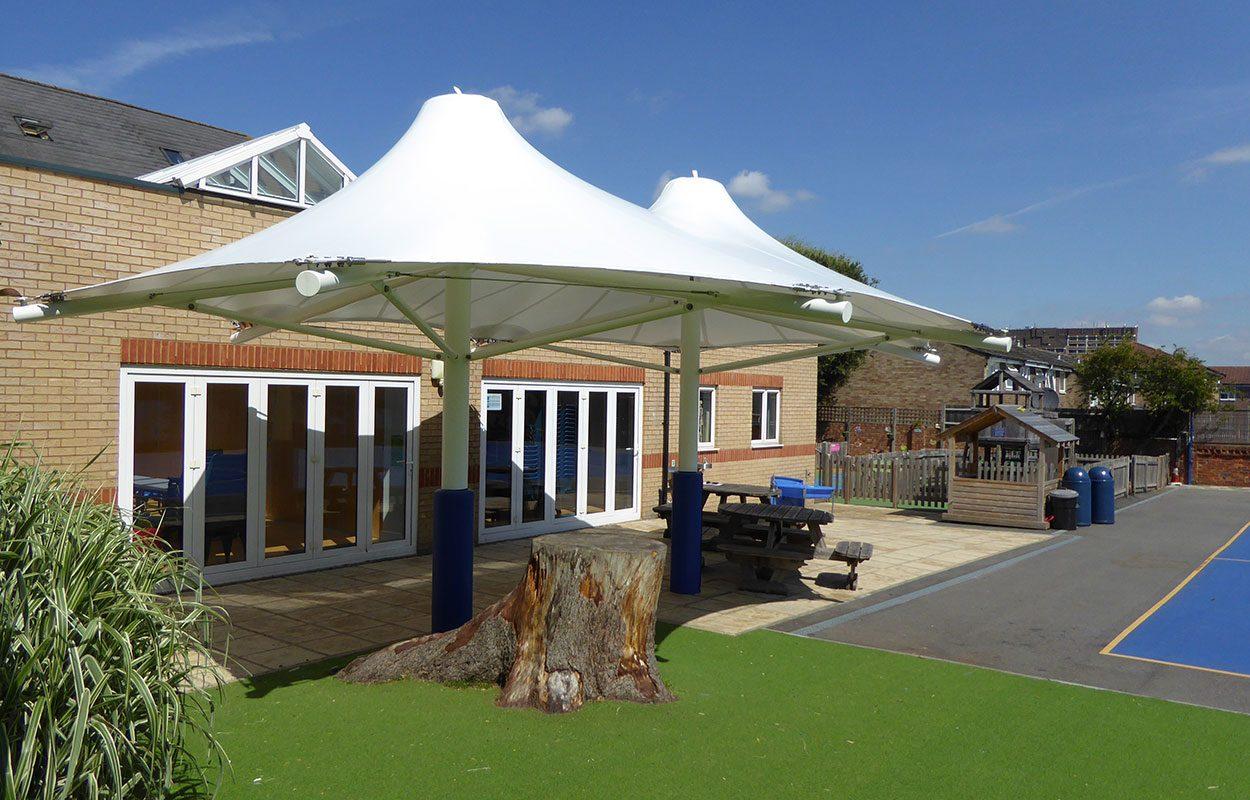 Fordingbridge tensile canopy West Lodge school
