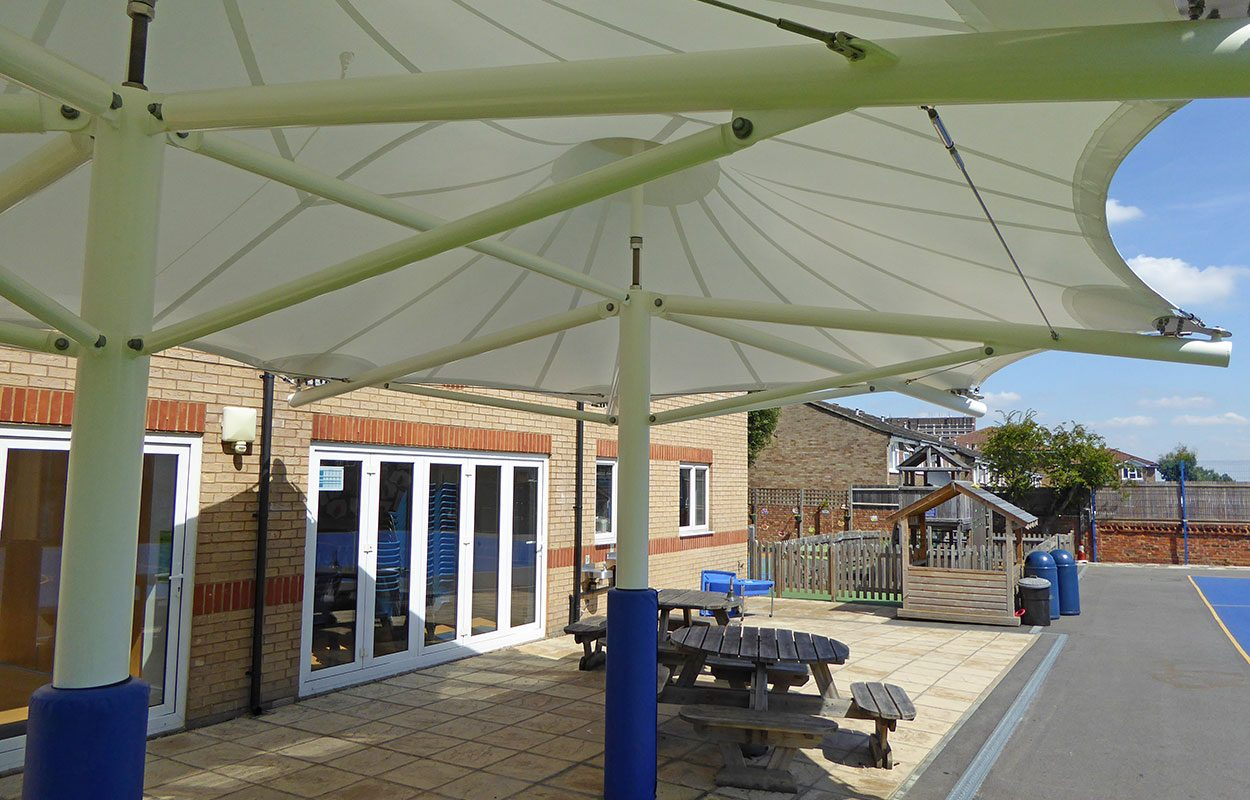 Fordingbridge tensile canopy West Lodge school & West Lodge School - Fordingbridge plc