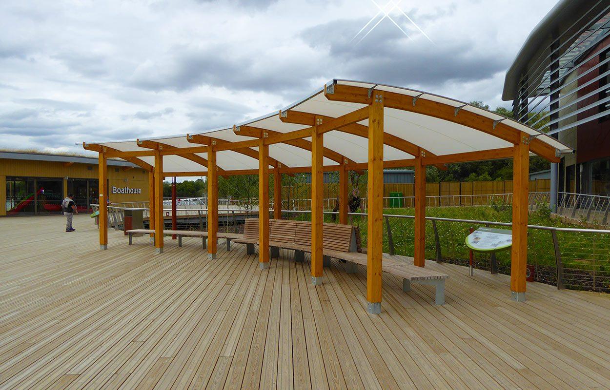 Rushden Lakes Timber canopy Fordingbridge