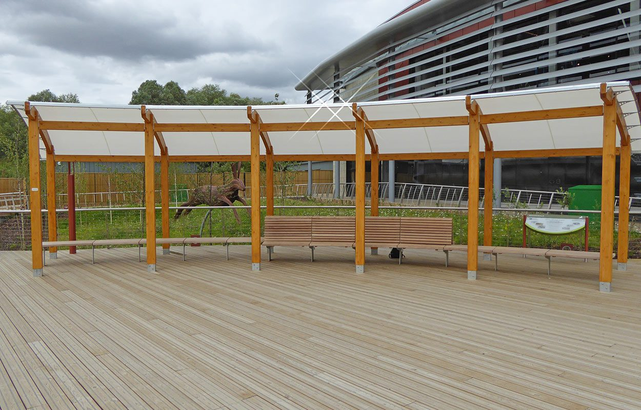 Rushden Lakes Timber canopy Fordingbridge