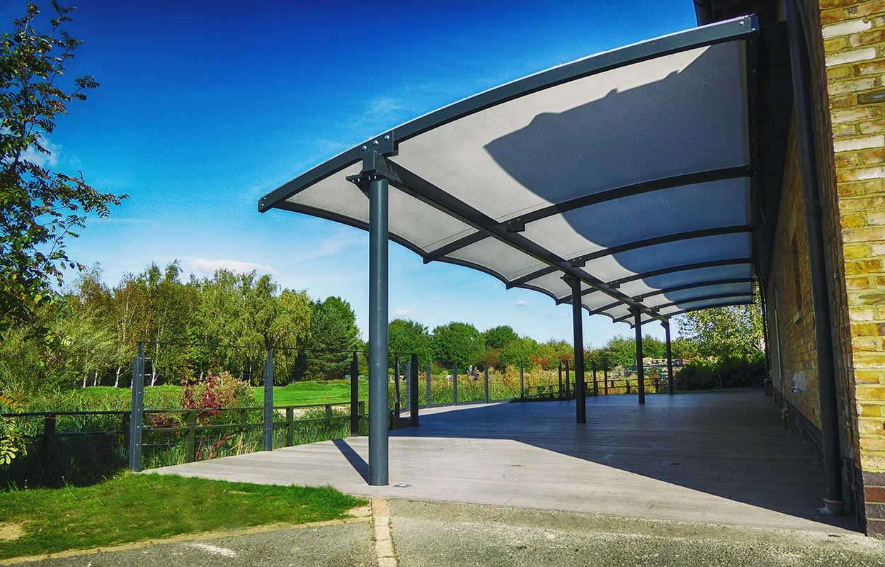 Fordingbridge steel canopy WWT London