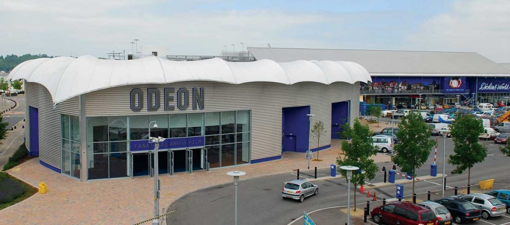 Odeon cinema tensile Fordingbridge canopy
