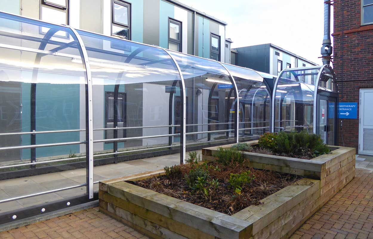 East Surrey Hospital Fordingbridge steel walkway